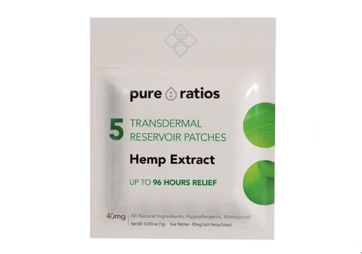 CBD Topical Hemp Patch By Pure Ratios