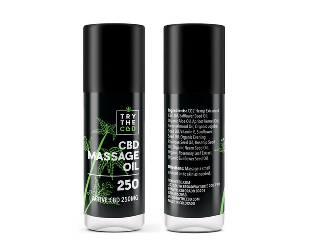 Massage Oil By Try The CBD