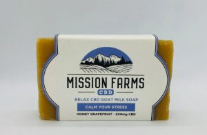 Relax CBD Goat Milk Soap By Mission Farms