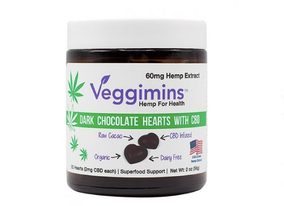 Veggimins Dark Chocolate CBD Hearts
